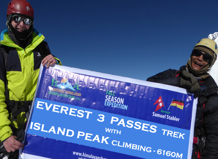 Everest 3 Passes Trek with Island Peak Climbing