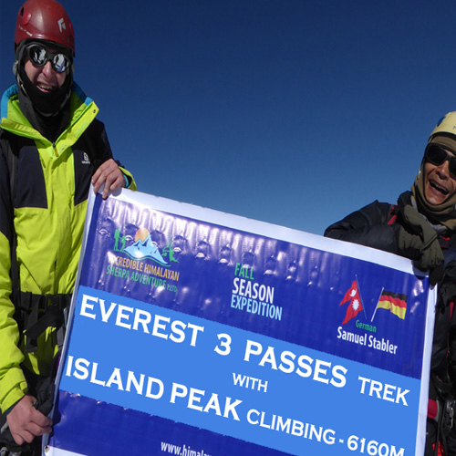 Three Passes Trek with Island Peak Climbing in Nepal